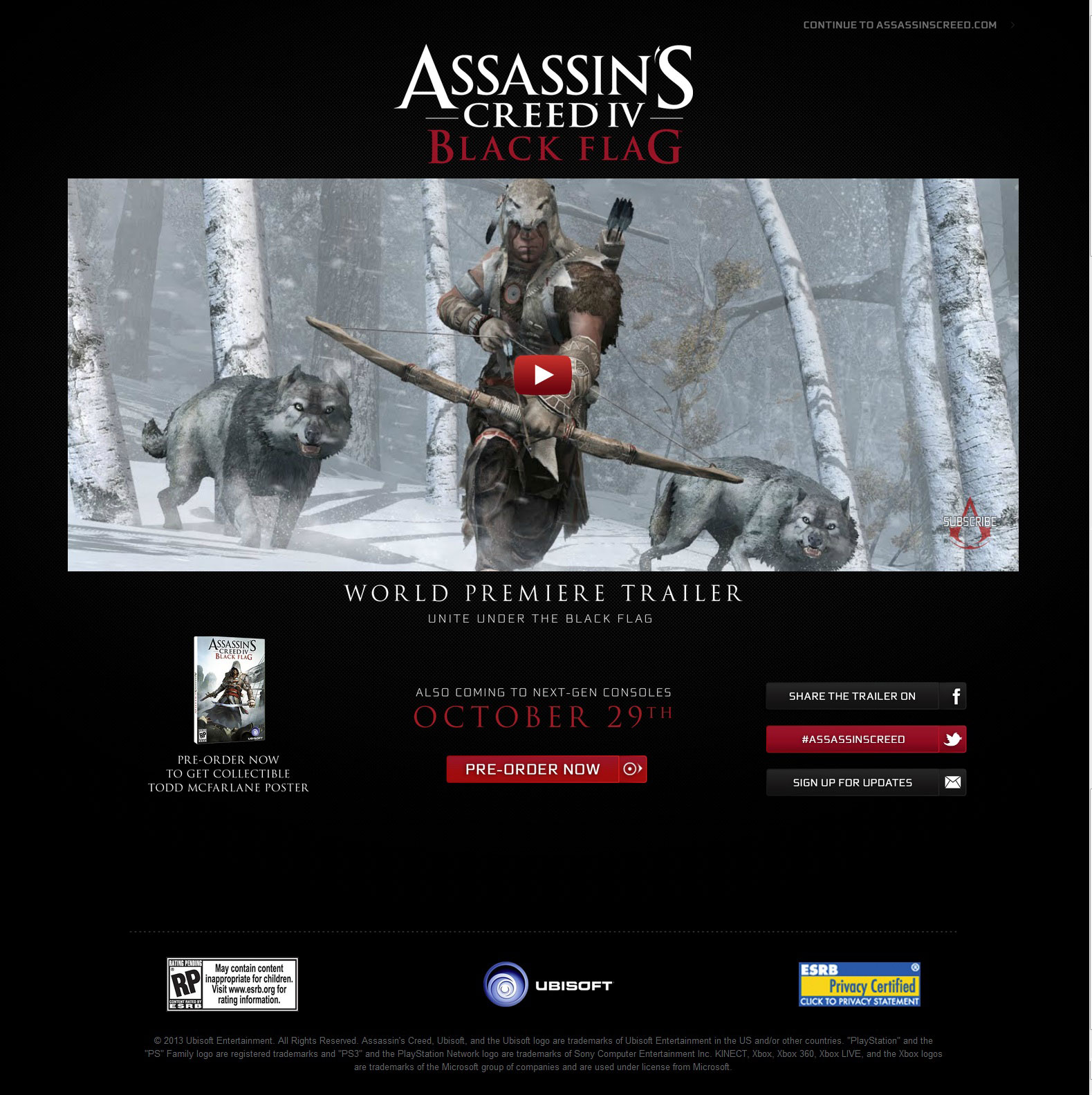 Assassins Creed IV Black Flag Release Date and Next-Gen Consoles Revealed pic 1