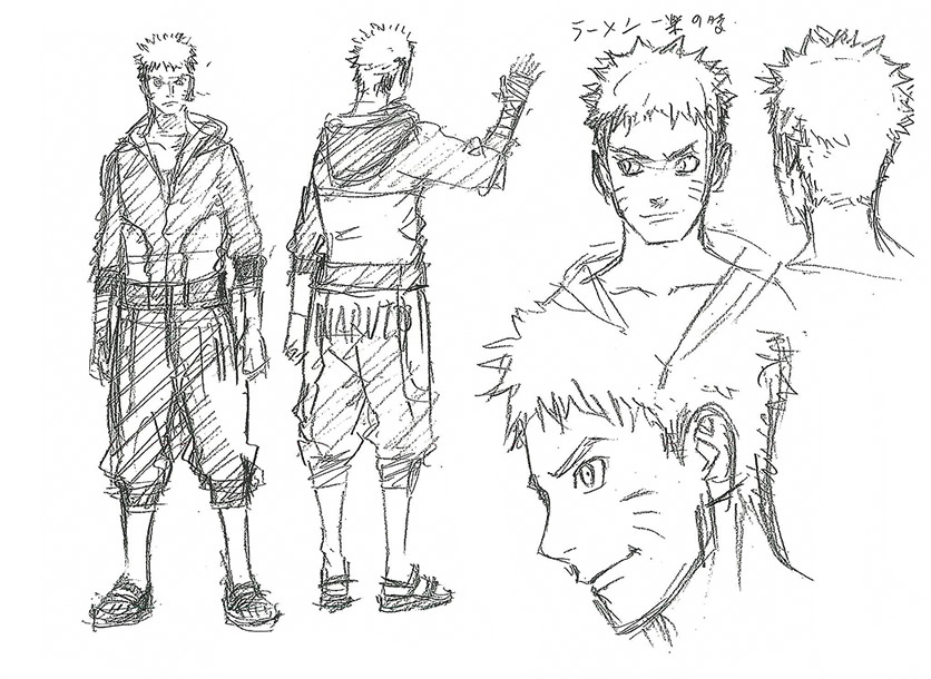 7419 Naruto Film The Last Charakter Designs on sasuke last