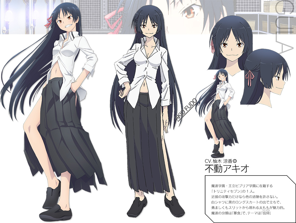 Trinity 7 Anime Characters : Trinity seven anime cast visual character designs