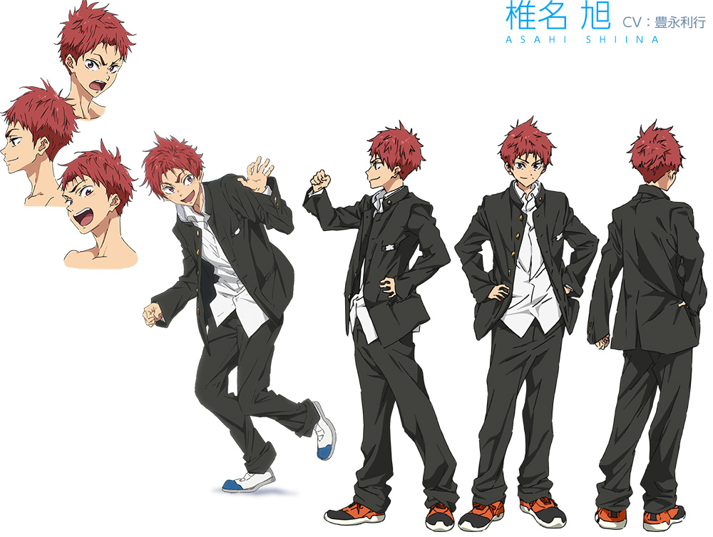 High☆Speed!--Free!-Starting-Days-Character-Designs-Asahi-Shiina