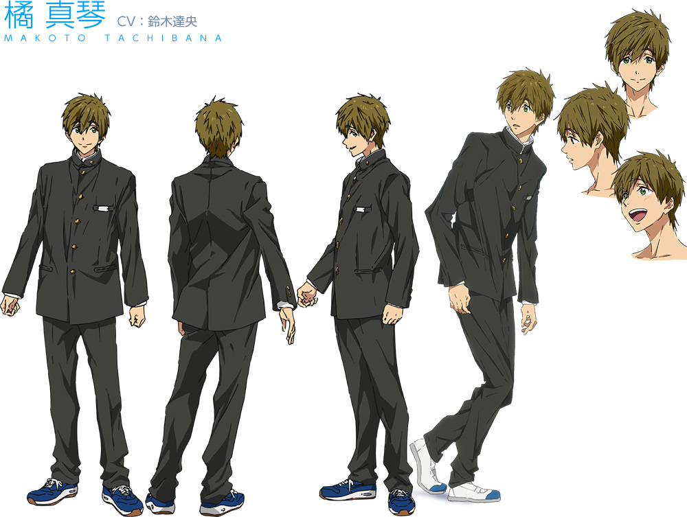 High☆Speed!--Free!-Starting-Days-Character-Designs-Makoto-Tachibana