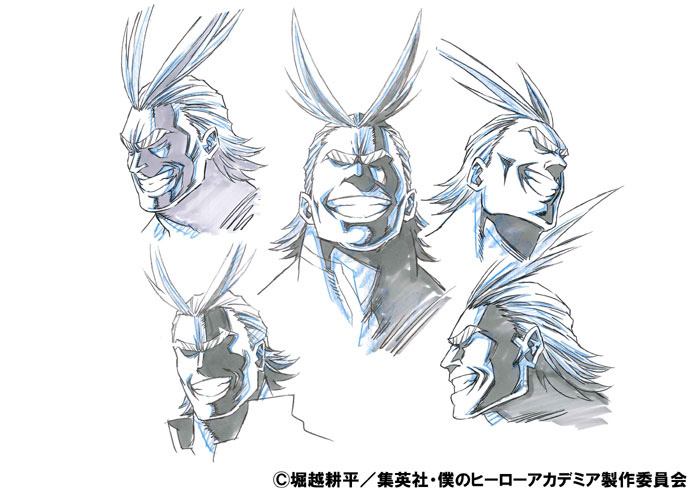 Boku no Hero Academia Coloured Character Designs Revealed