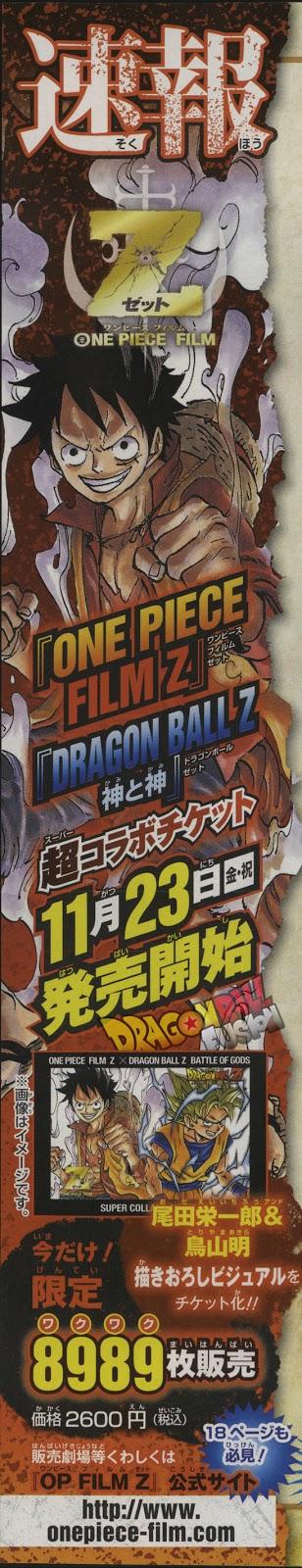 One Piece Z X Dragon Ball Z Battle of Gods Pic