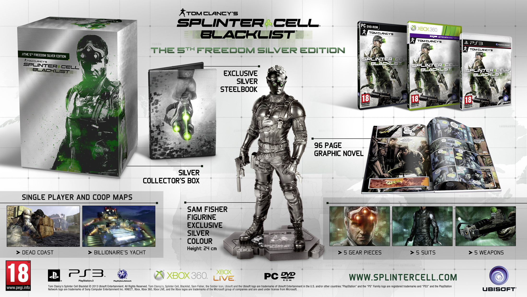 Splinter Cell Blacklist - The 5th Freedom Silver Edition Revealed Pic