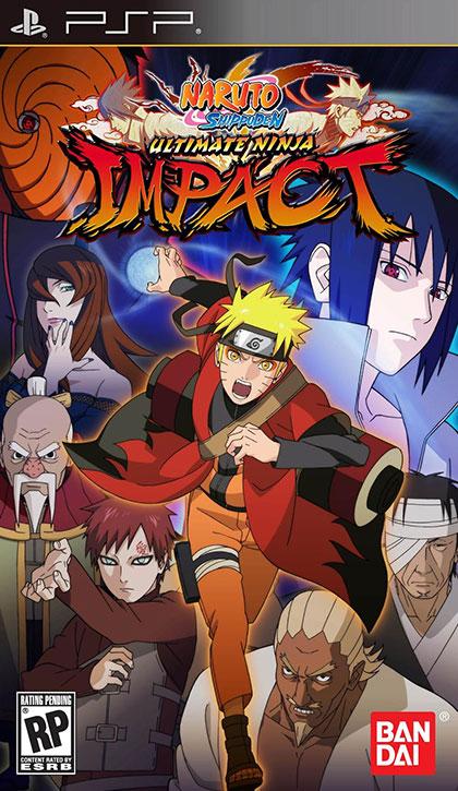 Naruto Shippuden Ultimate Ninja Impact Review - PlayStation Portable Box Art