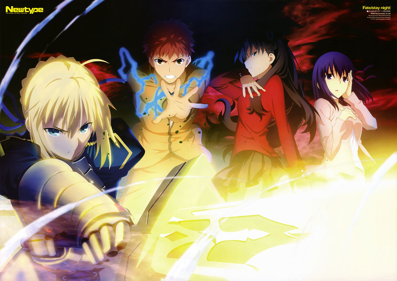 New-Spring-&-Summer-2014-Anime-Visuals---Fate-stayNight2014