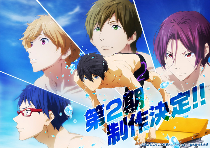 Free! Season 2 Announced + Exclusive Pendant Season 2