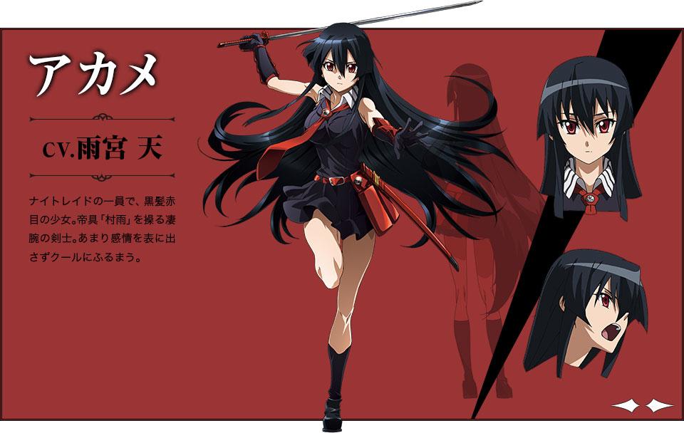 Akame-ga-KILL-Character Designs - Akame