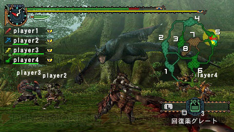 Monster Hunter Portable 2nd G IOS PSP Screen Compare 1