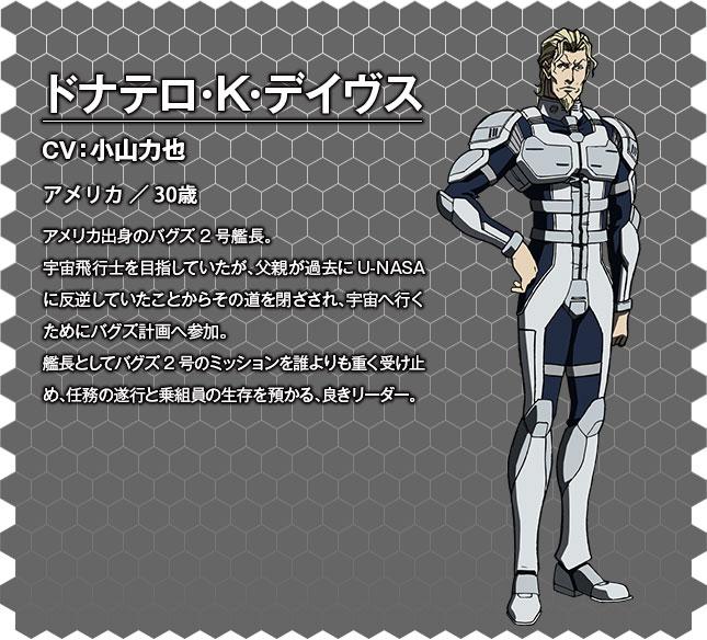 Terra Formars OVA Character Designs Donatello K. Davis