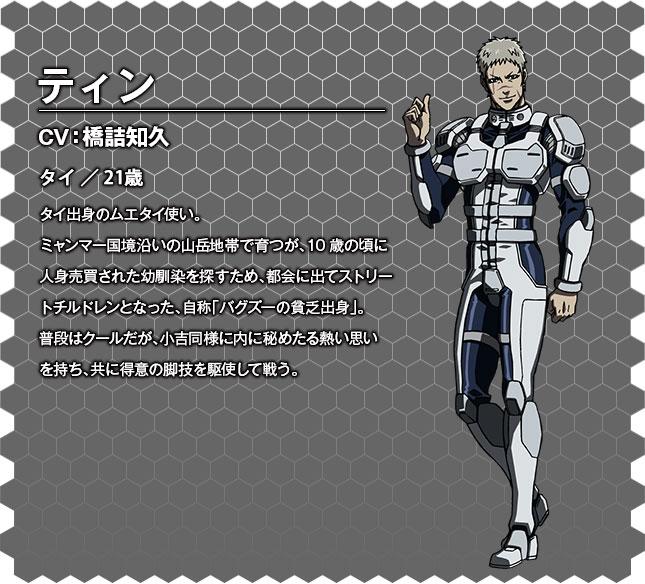 Terra Formars OVA Character Designs Thien