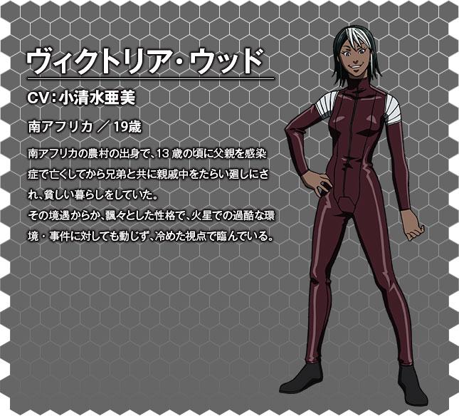 Terra Formars OVA Character Designs Victoria Wood