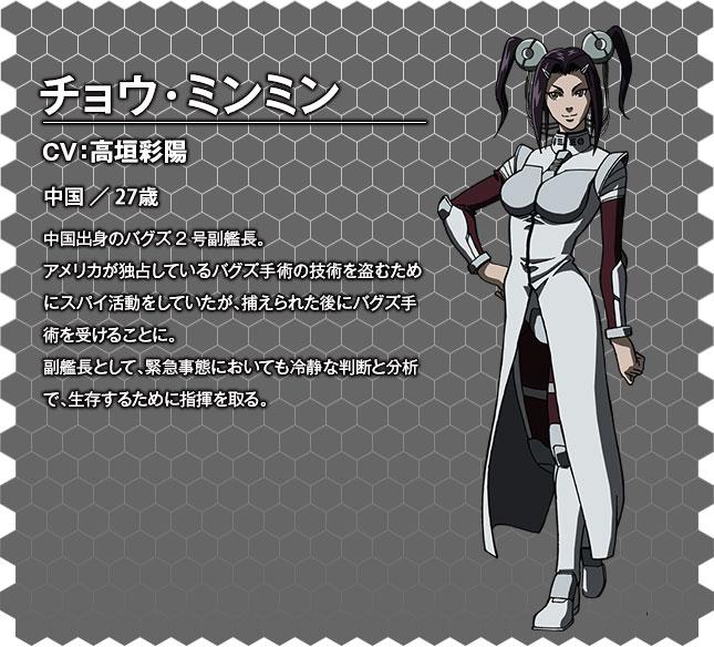 Terra Formars OVA Character Designs Zhang Ming-Ming