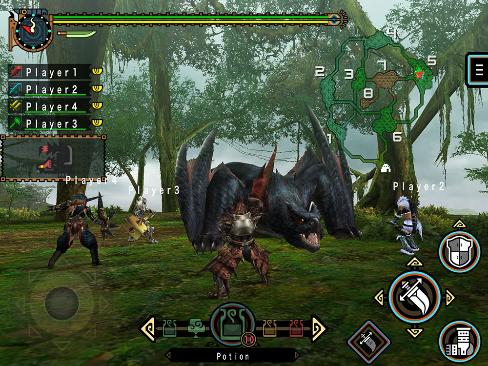 Monster Hunter Freedom Unite IOS Screen 1