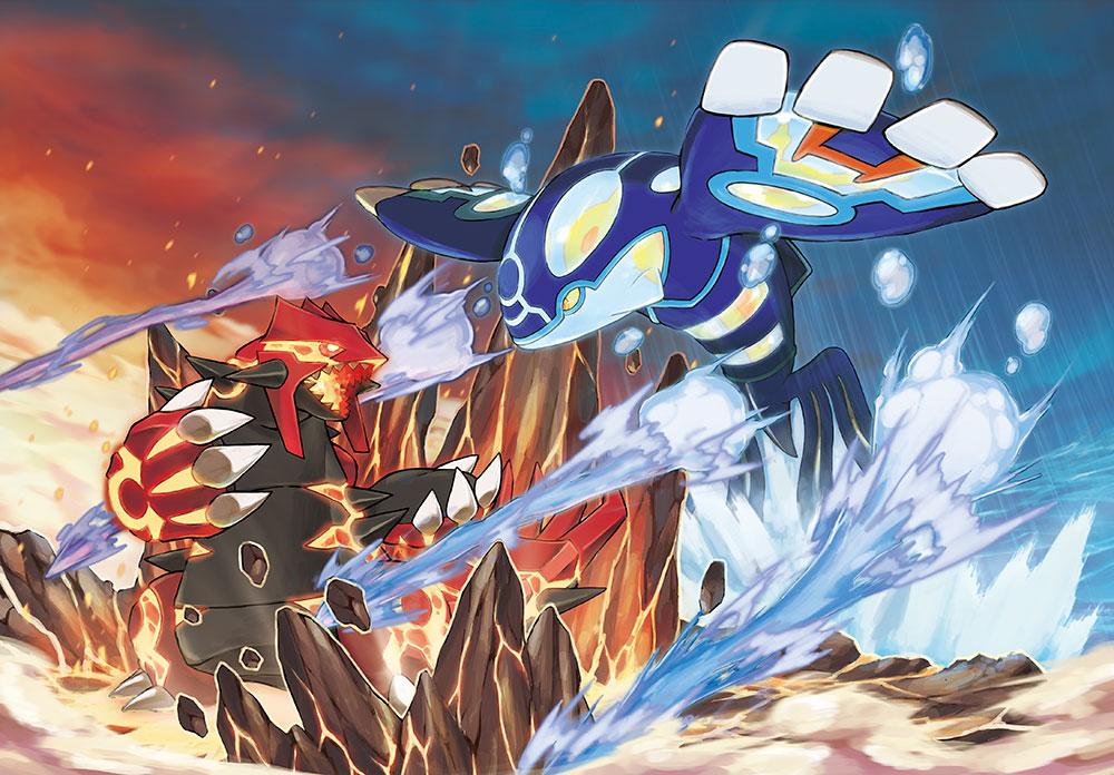 Pokémon Omega Ruby-Alpha Sapphire Primal Groudon vs Primal Kyogure