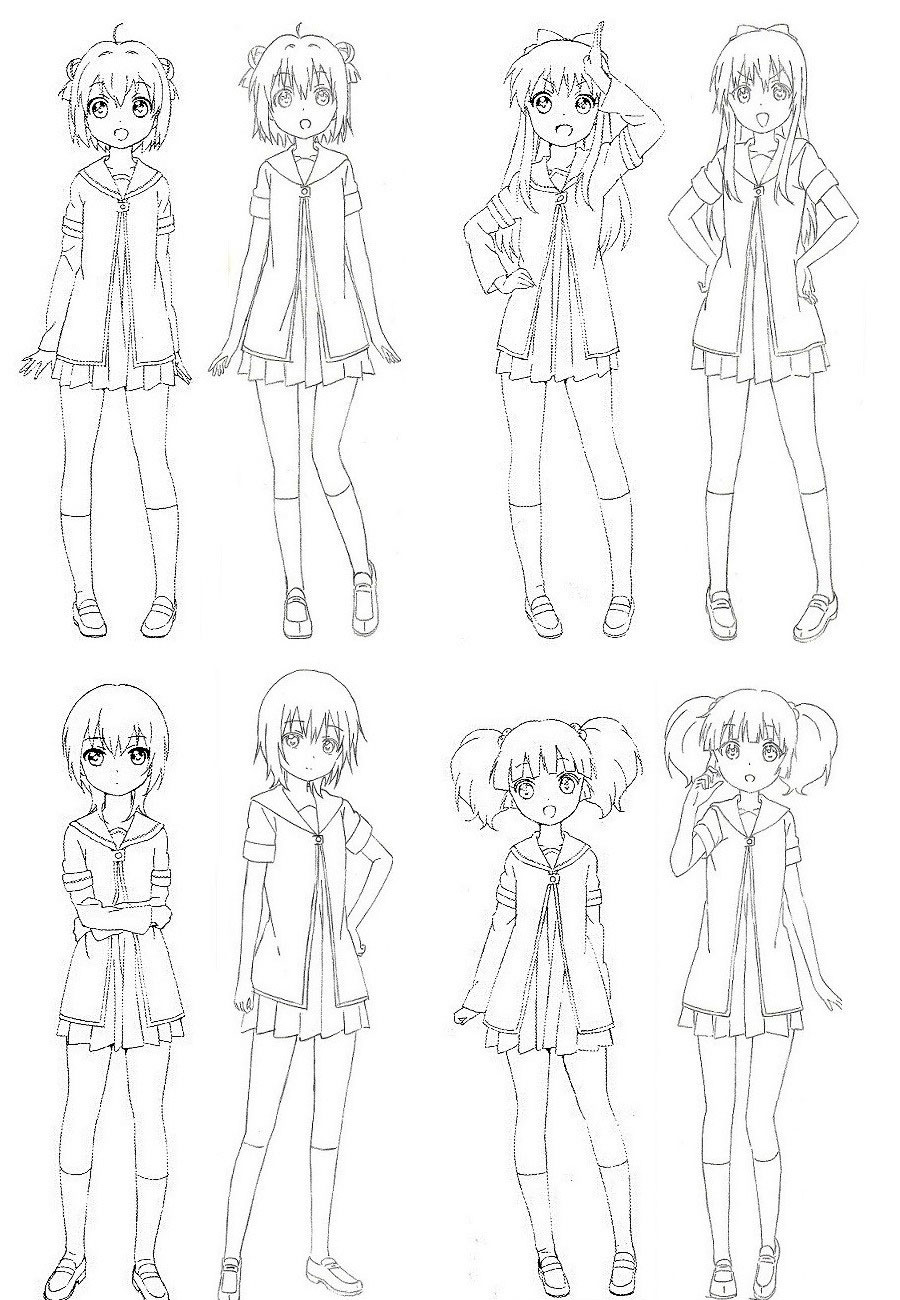 YuruYuri Nachuyachumi!  Character Designs 1