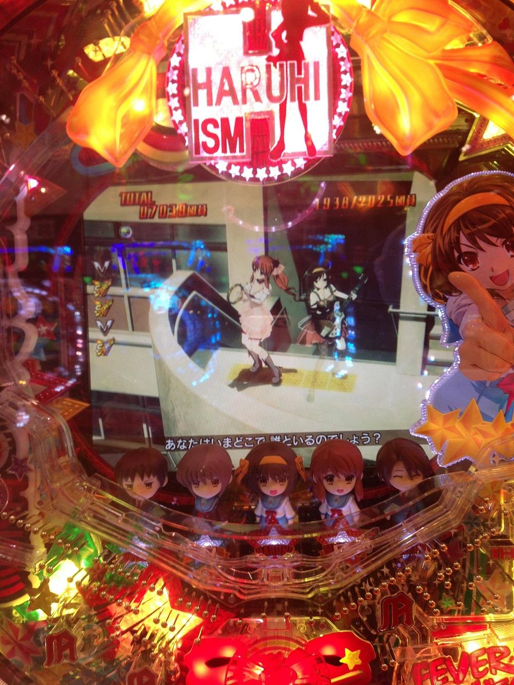 Haruhi Pachinko Machine Gameplay