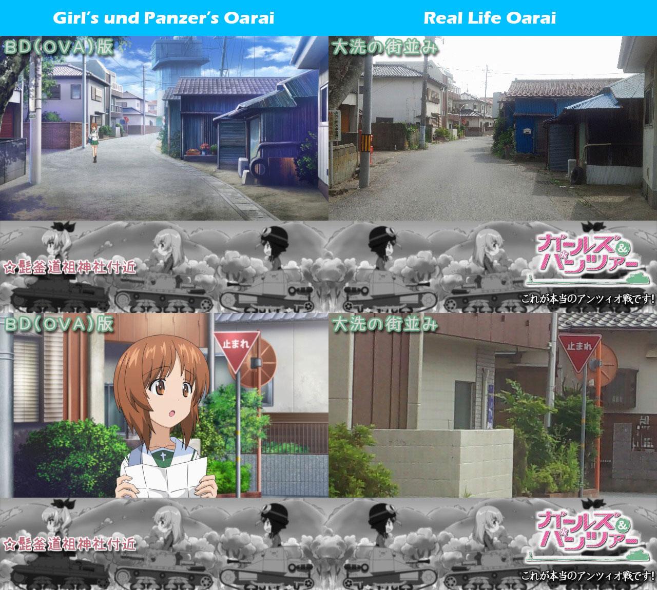 Girls-Und-Panzer-Kore-Ga-Hontou-No-Anzio-Sen-Desu-Real-Life-Comparison-Oarai
