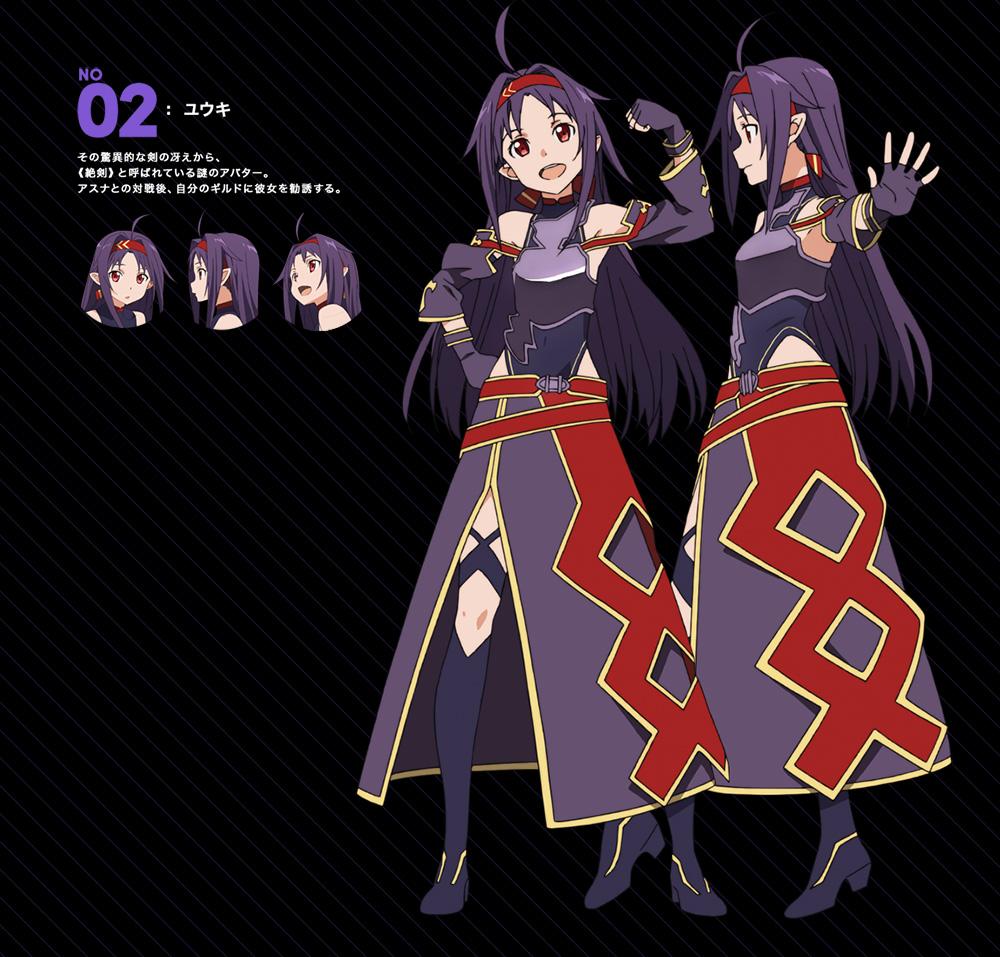 Sword-Art-Online-II-Mothers-Rosario-Arc-Character-Design-Yuuki-Konno