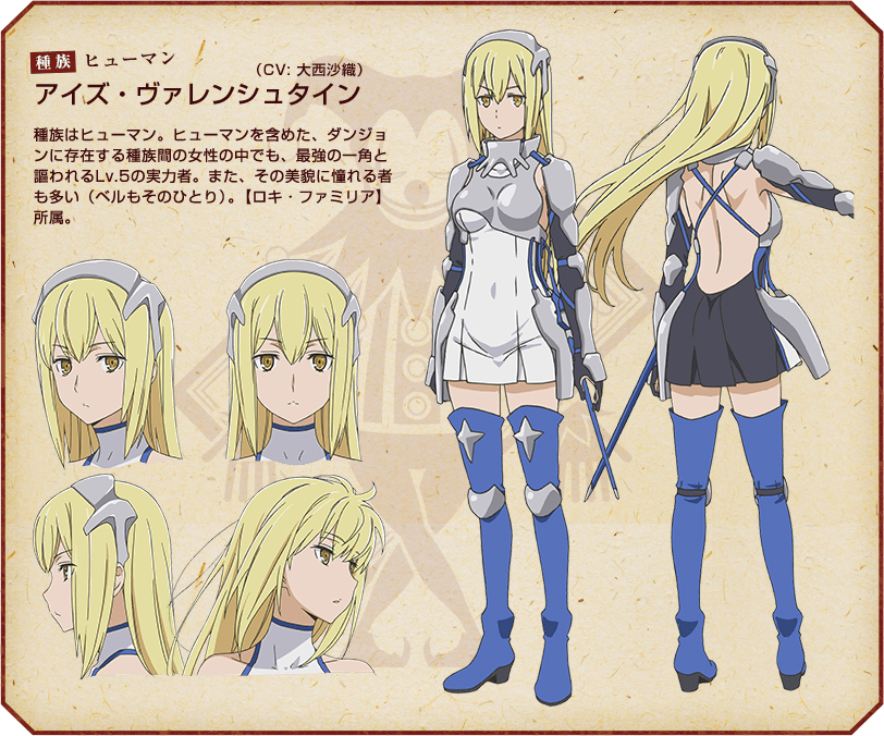 Dungeon-ni-Deai-wo-Motomeru-no-wa-Machigatteiru-no-Darou-ka-Anime-Character-Designs-Ais-Wallenstein
