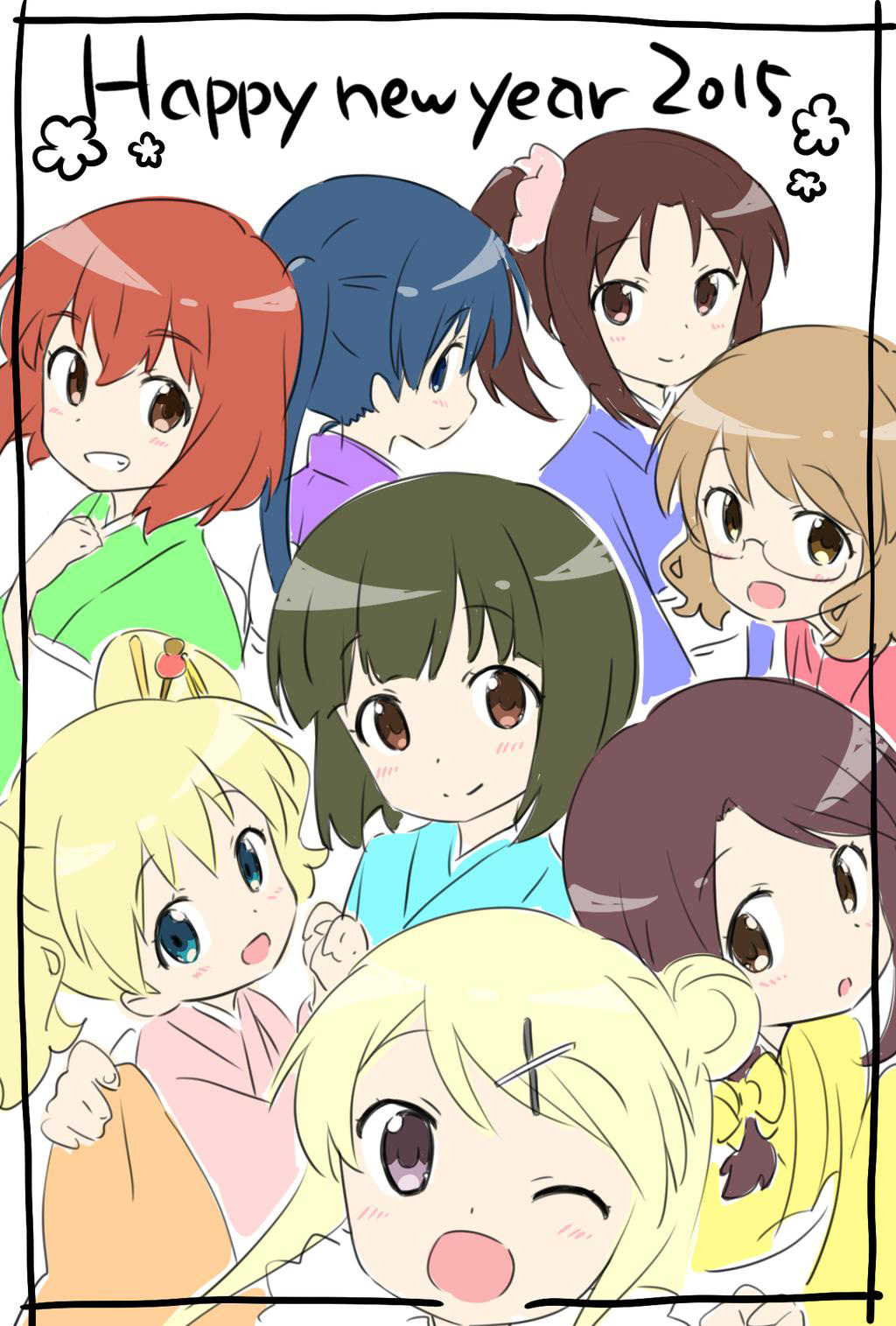 2015-Anime-Happy-New-Year-Kiniro-Mosaic