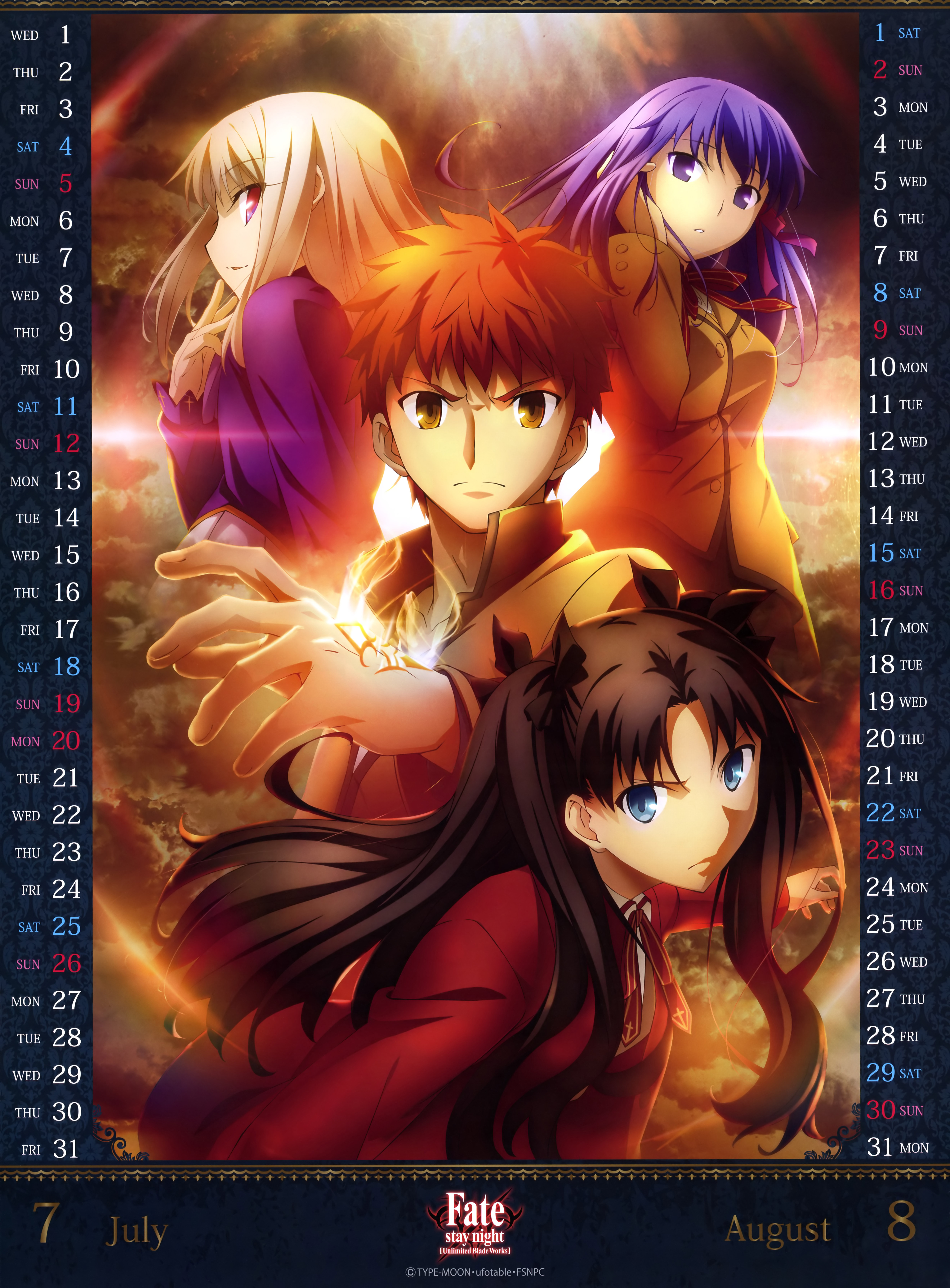 Fate-stay-night--Unlimited-Blade-Works-2015-Anime-Calendar-Image-4