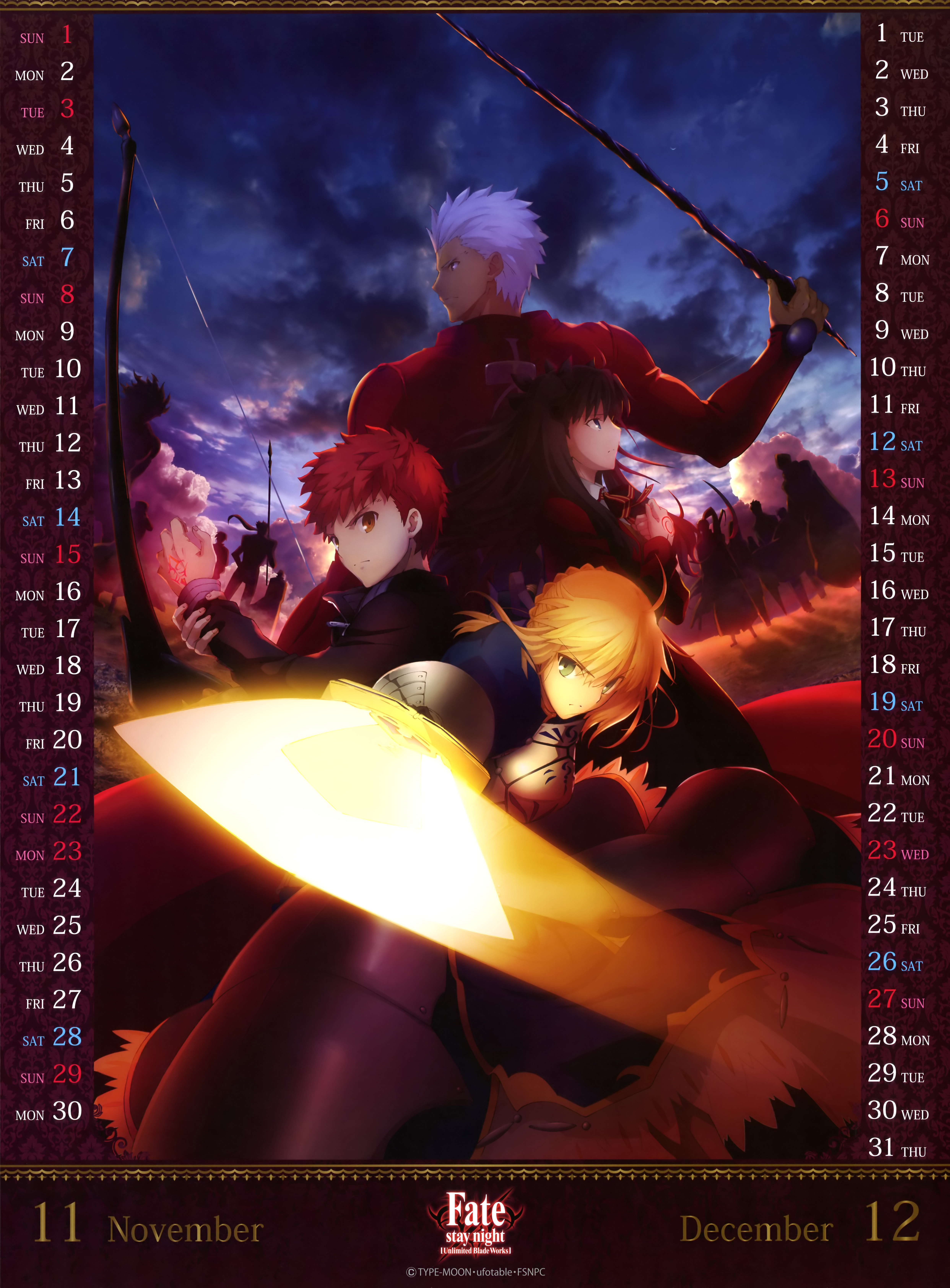 Fate-stay-night--Unlimited-Blade-Works-2015-Anime-Calendar-Image-6