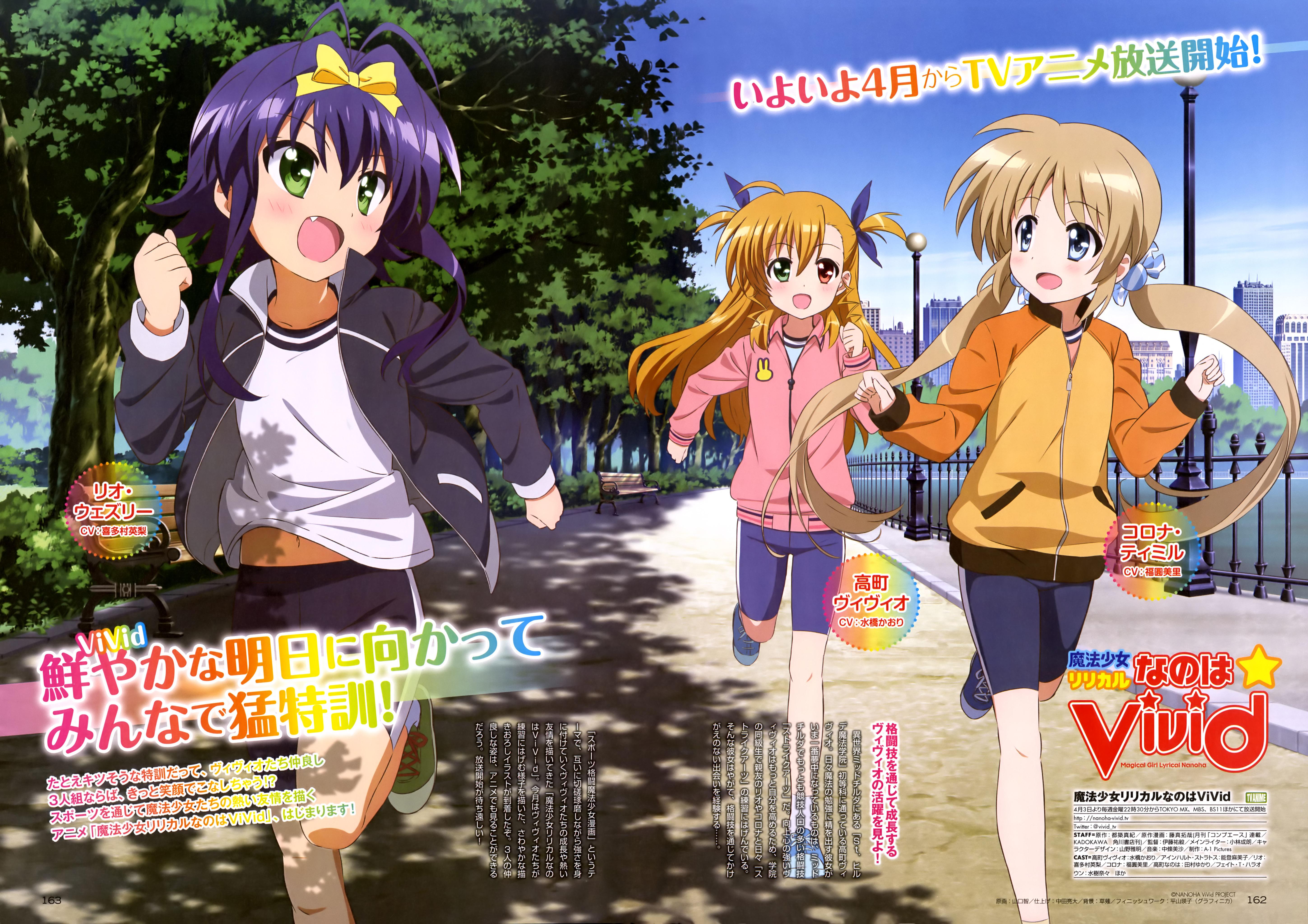 Mahou Shoujo Lyrical Nanoha ViVid Anime Magazine Visual