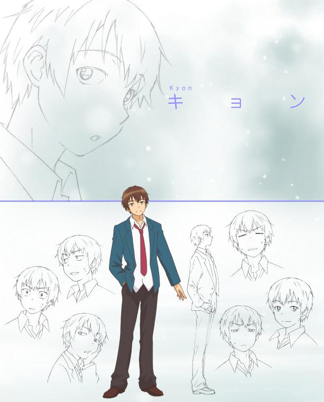 The-Disappearance-of-Nagato-Yuki-Chan-Anime-Character-Design-v2-Kyon