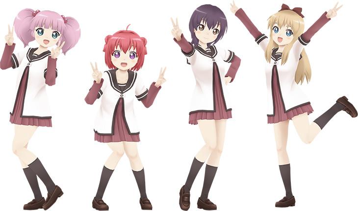 Miracle-Girls-Festival-Yuru-Yuri-Characters-Render