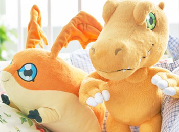 Official Agumon and Patamon Plushies Revealed