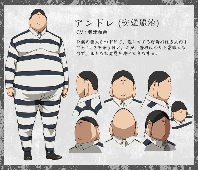 Prison School Anime-Character-Design-Reiji-Andou
