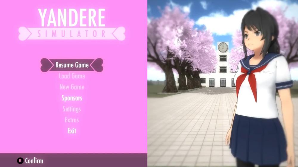 Yandere-Simulator-Start-Screen