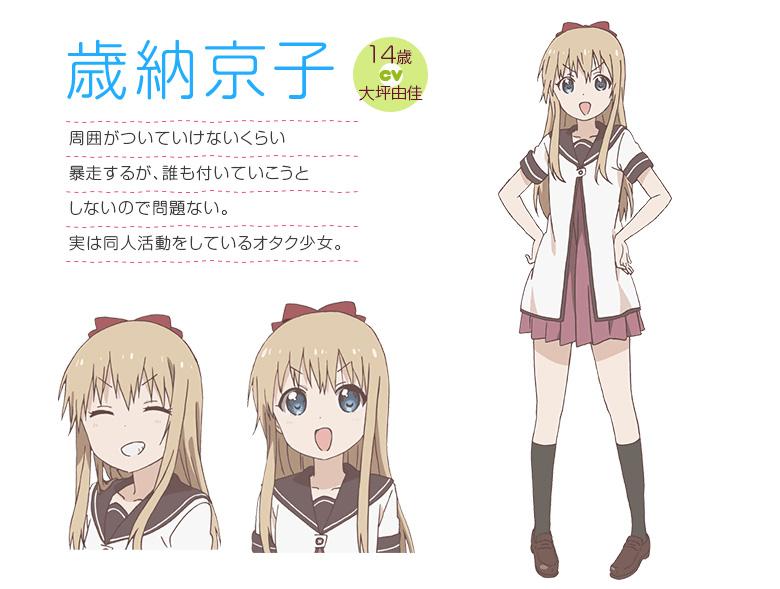 YuruYuri-San-Hai-Character-Designs-Kyouko-Toshinou