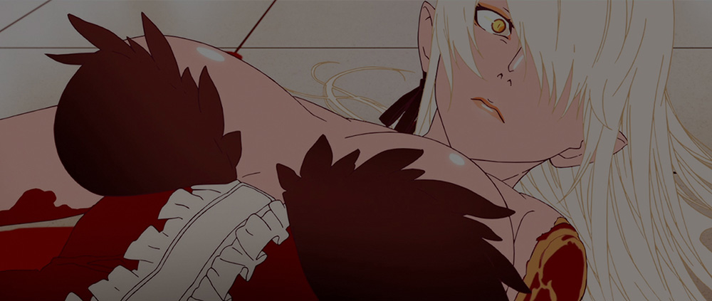 Kizumonogatari-I-Tekketsu-hen-Character-Visual-Kiss-shot-Acerola-orion-Heart-under-blade