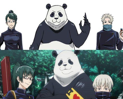 Maki,-Toge-&-Panda-Jujutsu-Kaisen-0-Character-Designs-Revealed